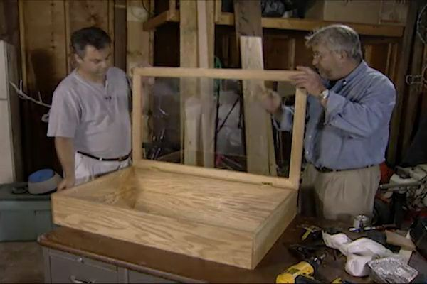 how to build a wall mounted curio cabinet