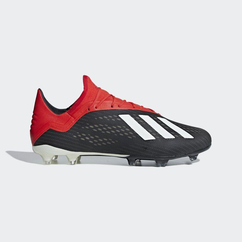 Bota de fútbol X 18.2 césped natural seco Core Black   Off White   Active  Red 496370b092b2c