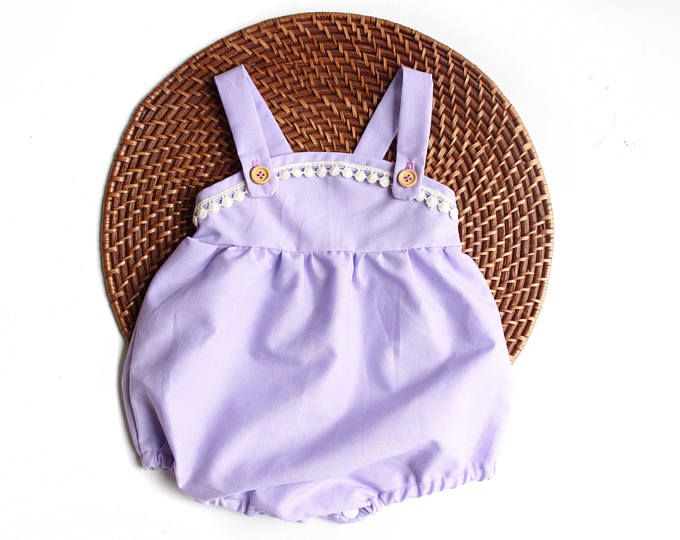 b68a9fce90 Lavender Newborn Romper Cake Smash Outfit First Birthday Outfit Girl  Welcome Home Outfit Girl Newborn Photo Outfit Girl Easter Playsuit