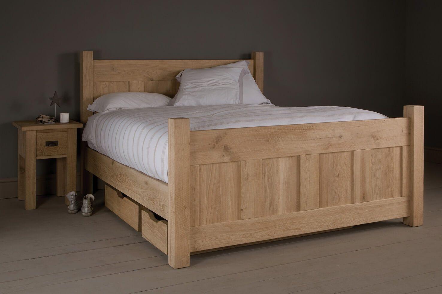 The Panel Oak Bed Giường, Ngăn kéo