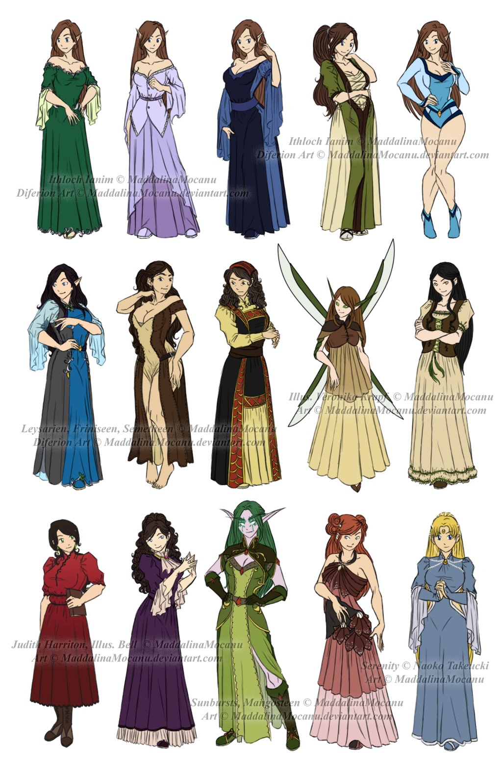 Dress n Clothes Designs P4 Dhonia+Various Women by
