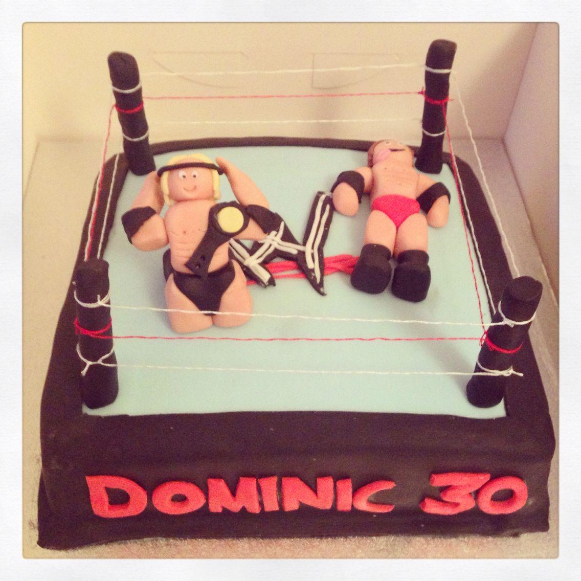 Wrestling ring 30th birthday cake wrestling wrestlers