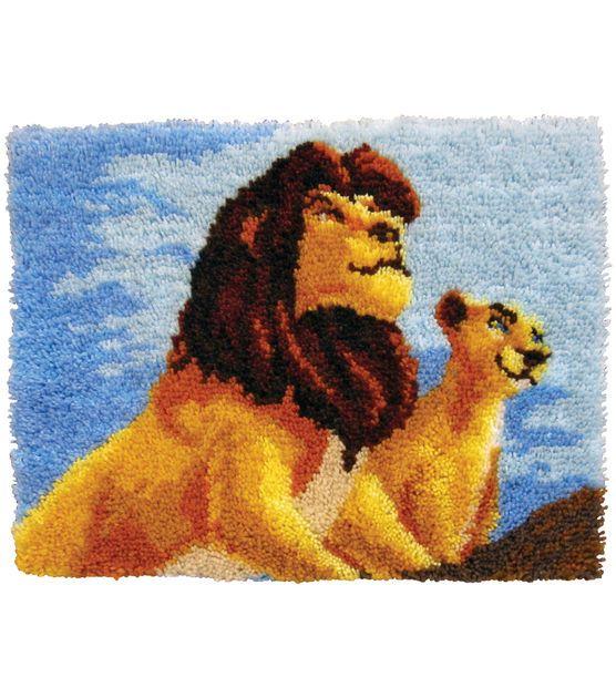 Disney Mcg Textiles Disney Dreams Latch Hook Kit The Lion