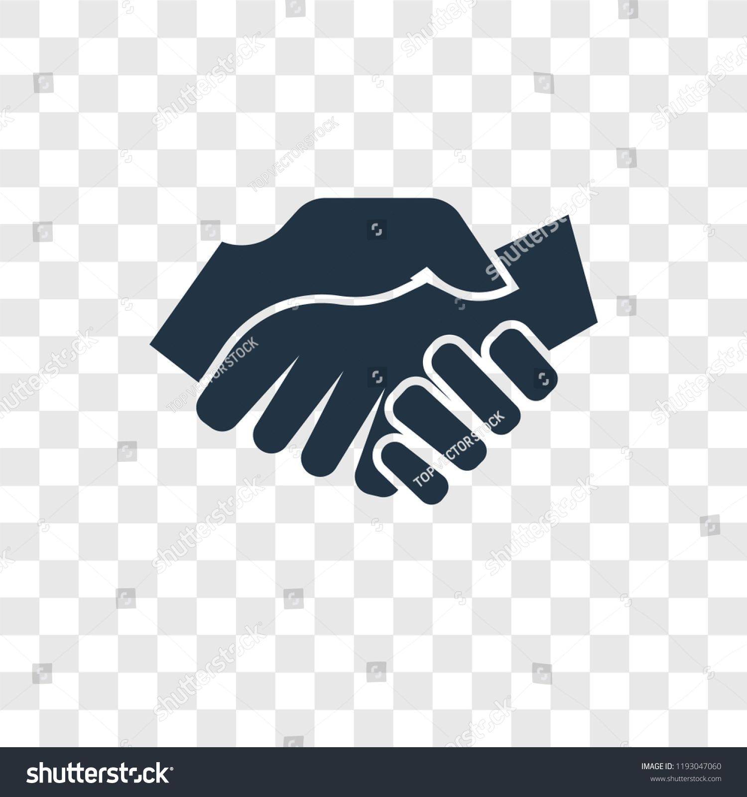 Shake Hands Vector Icon Isolated On Transparent Background Shake Hands Transparency Logo Concepticon Isolated Logo Concept Vector Icons Transparent Background
