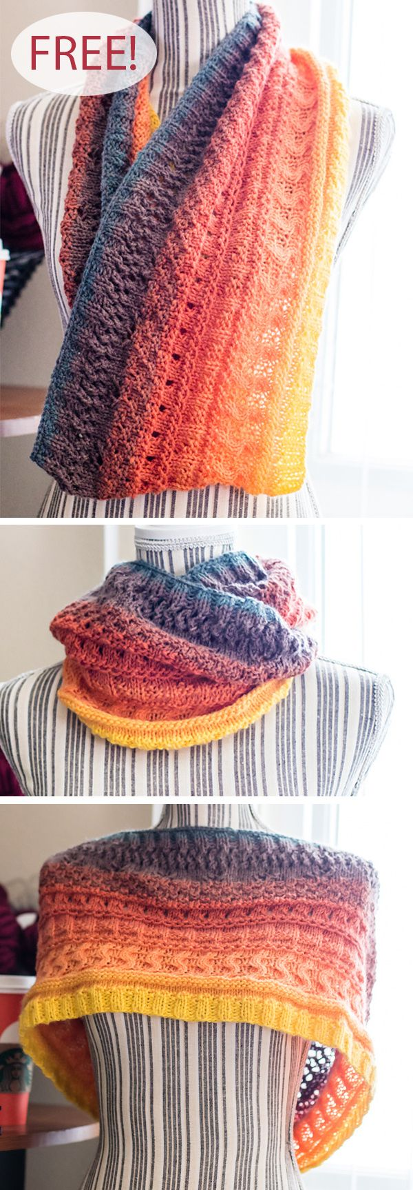 Free Knitting Pattern for Mandala Cowl