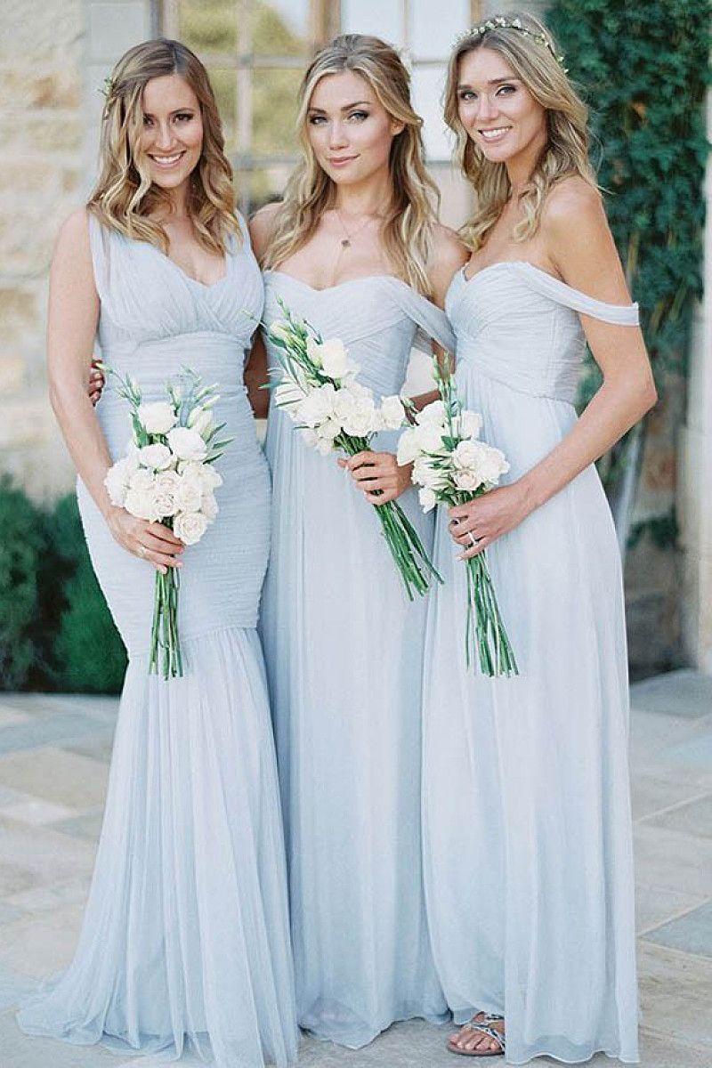 Gorgeous sleeveless floorlength natural zipper bridesmaid dresses