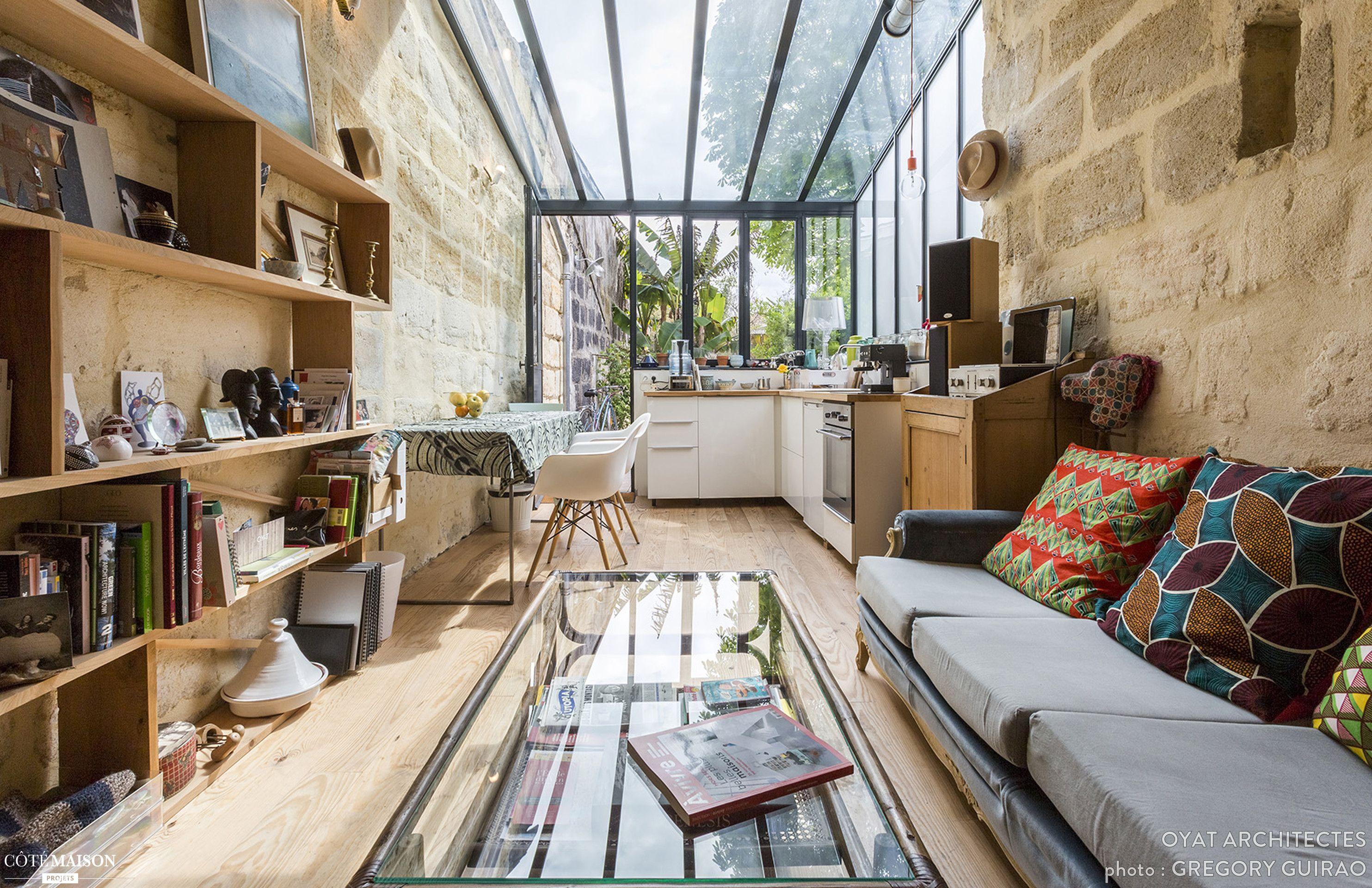 R novation et extension d une maison individuelle oyat architectes c t d cor rustique - Renovation d une maison ...
