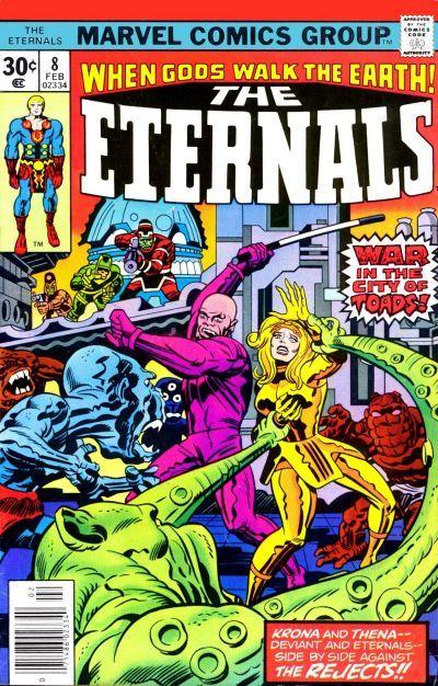 Eternals # 8 by Jack Kirby & John Verpoorten