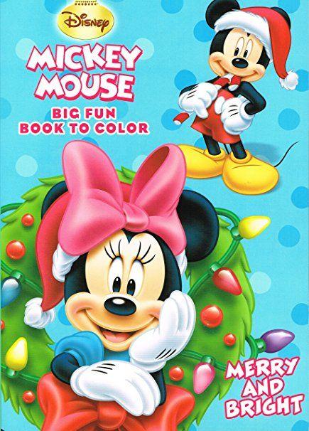 Amazon.com: Disney® Mickey Mouse Christmas Coloring Book Set (2 ...