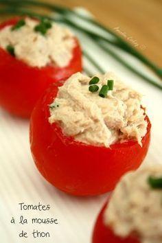 Tomates grappes farcies à la mousse de thon - Amandine Cooking