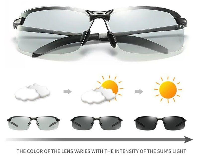 f8726a51cff Cheapest Change Color Photochromic Sunglasses Men Polarized Driving  Chameleon Discoloration Sun glasses Outdoor Sport Biker Goggles
