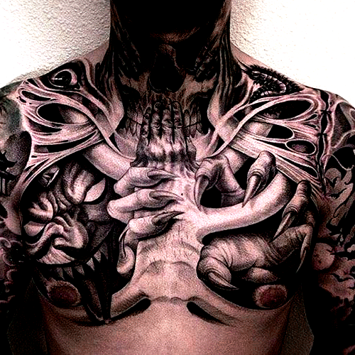 Badass Chest Tattoo Ideas For Guys Best Chest Tattoos For In 2020 Chest Tattoo Men Cool Chest Tattoos Tattoos For Guys