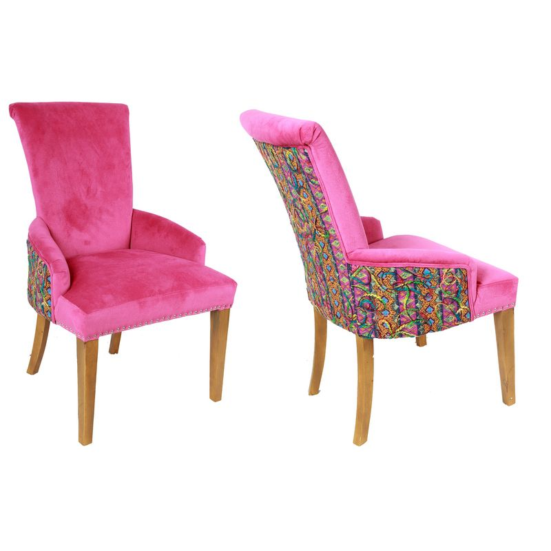 Hot Pink Plush Chair , Home, decor, furniture, hot pink, design, modern, living, contemporary, style.