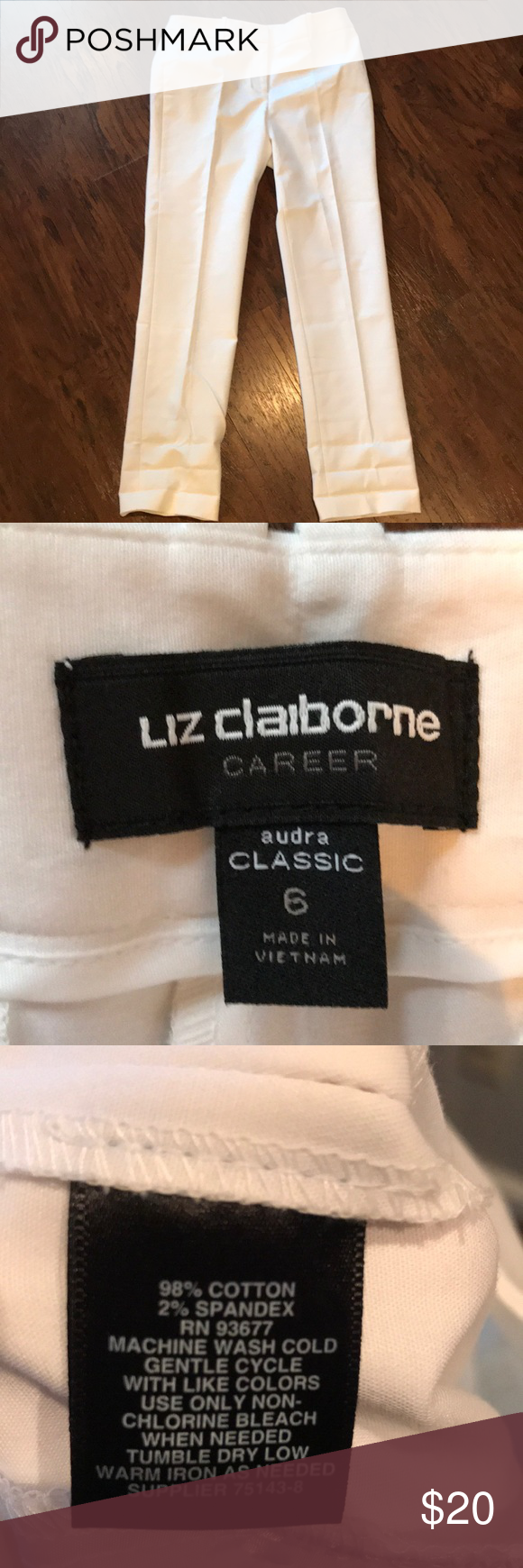 White Slacks White Slacks never worn Liz Claiborne Pants Trousers #whiteslacks White Slacks White Slacks never worn Liz Claiborne Pants Trousers #whiteslacks