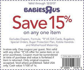 free babies r us coupons canada for july