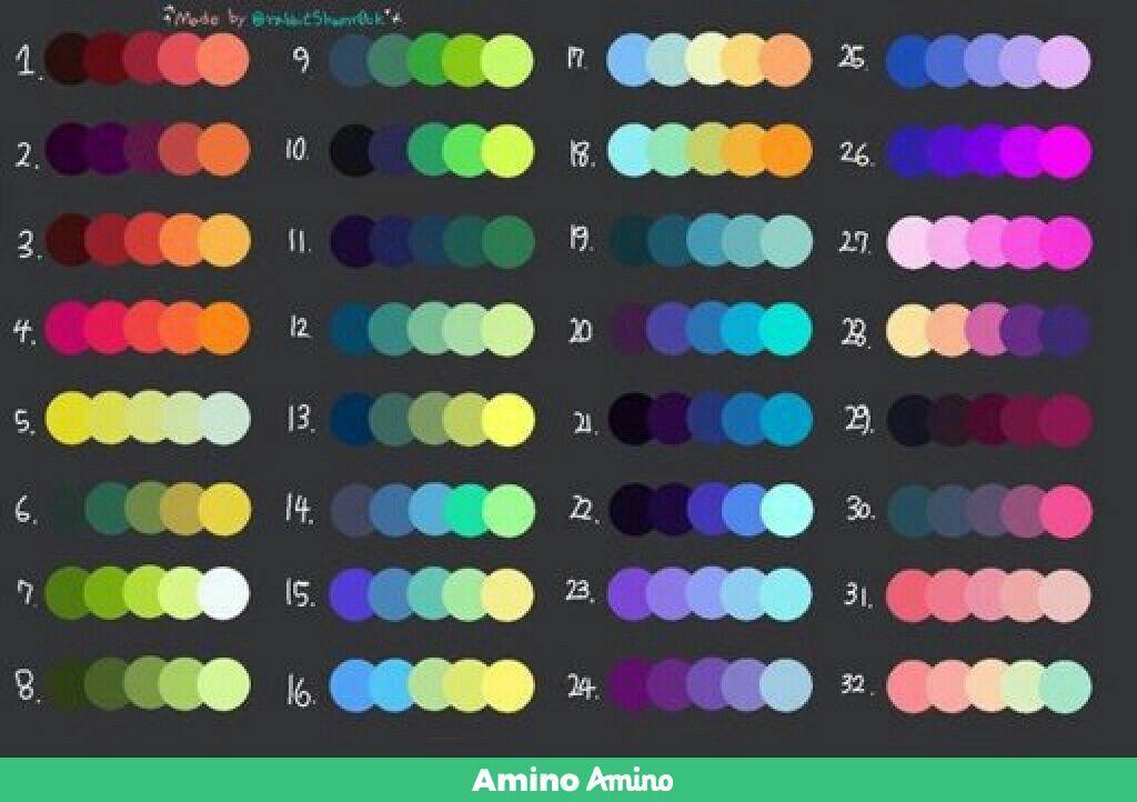 Paleta Varios Colores Paletas De Pintura Paleta De Colores Rgb Paletas De Colores