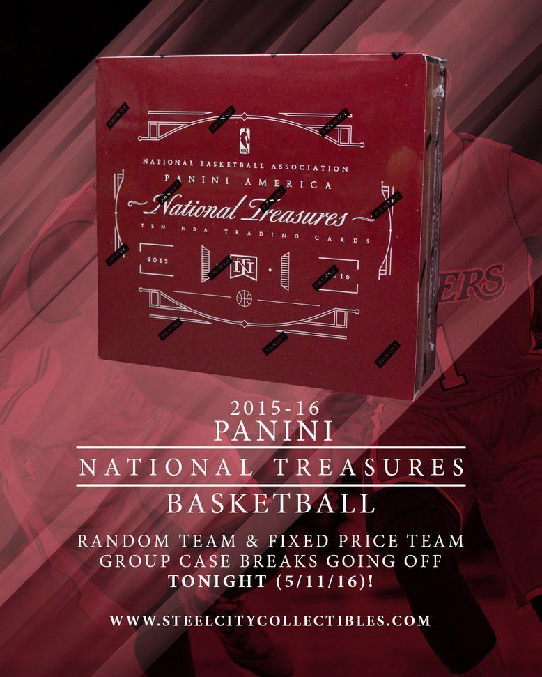 201516 panini national treasures basketball boxes