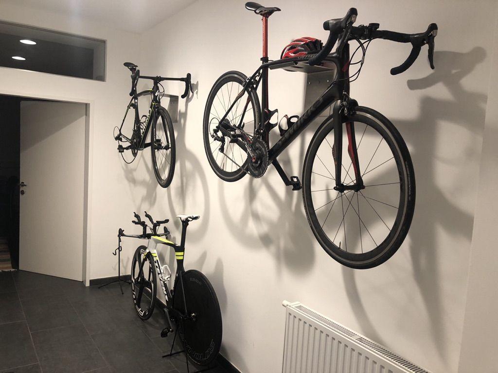 Fahrradwandhalter Fahrradaufhngung Edelstahlblech Gummistreifen
