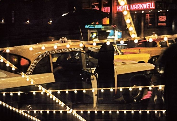 In the 1950s, photographer Marvin E. Newman began documenting his native New York City. His images like the one pictured here immortalised its busy streets, bright lights and famous yellow taxis.