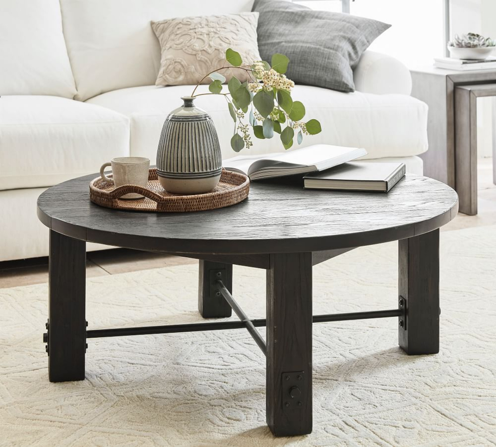 Benchwright Round Coffee Table Round Coffee Table Coffee Table Coffee Table Wood [ 900 x 1000 Pixel ]