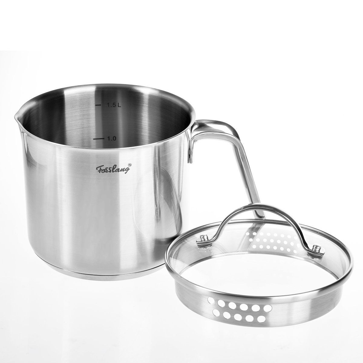 Fosslang 112quart stainless steel saucepan with cover