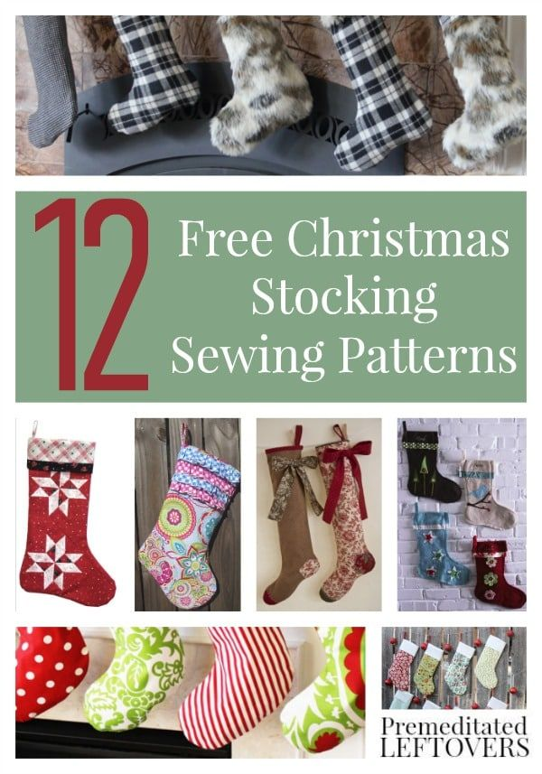Free Sewing Patterns for Stockings- Free stocking patterns, easy ...