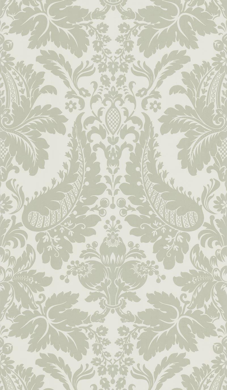 Lovely grey/beige damask designer wallcovering by Kravet