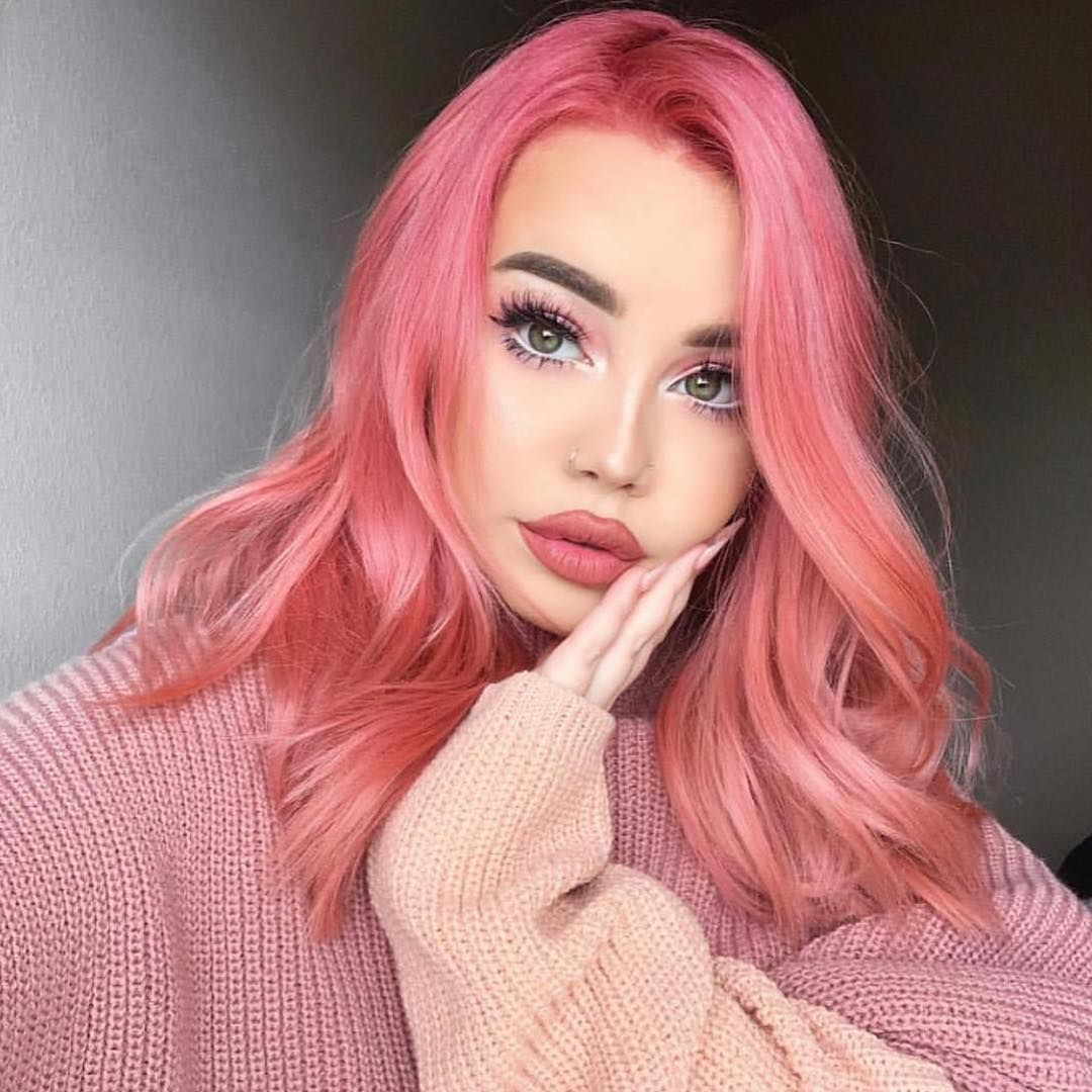 Olaplex On Instagram P I N K Starburst This Gorgeous Look Was Created By Hair By Love With Olaplex Model Haili Lyserodt Har Harprodukter Farver
