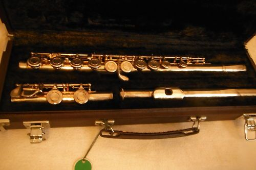 For Sale Now at Our Ebay Store for Only $189.99!  Yamaha YFL 225S Silver Plated Student Flute with Case Great Condition!