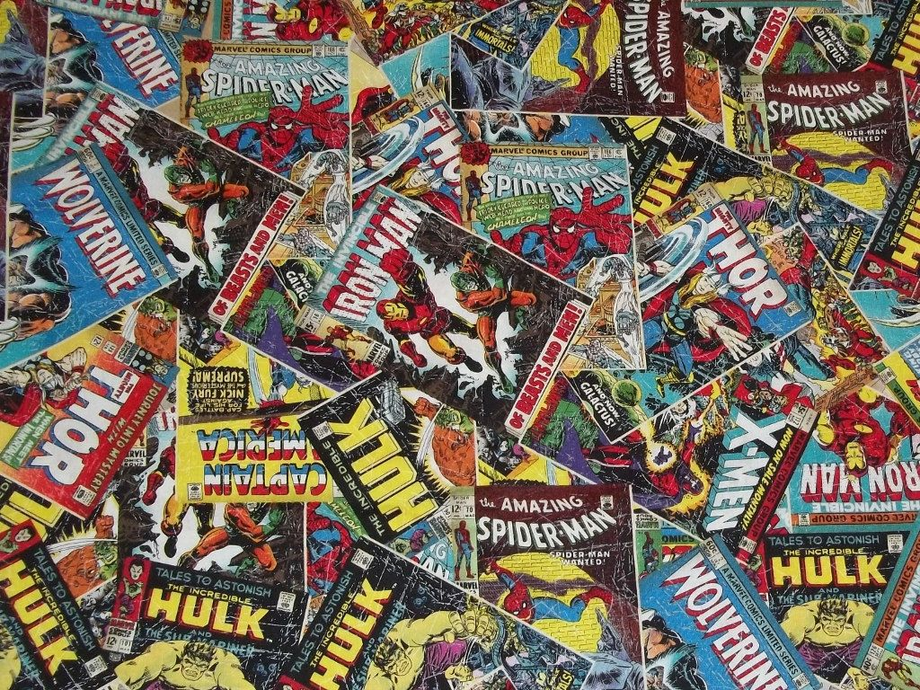 How To Make A Comic Book Cover : Marvel comic book covers fabric i ordered some of this