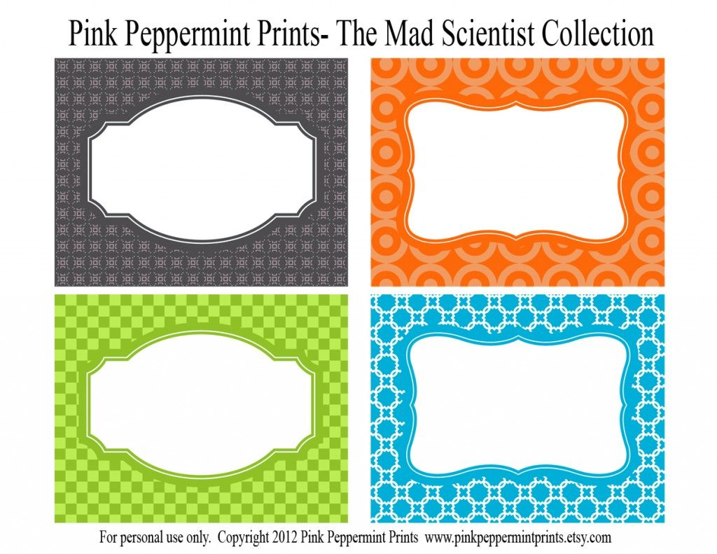 Vintage Science Labels Silhouette Set Royalty Free Cliparts ...