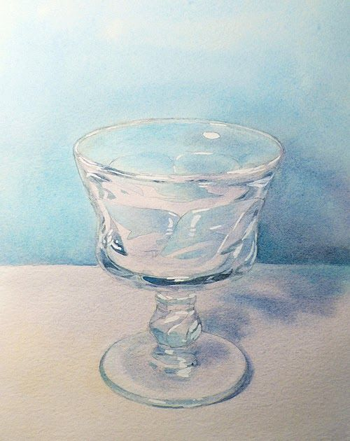 Watercolor Basics How To Paint A Glass Transparent Objects