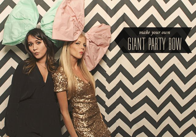 diy giant party bow photobooth prop