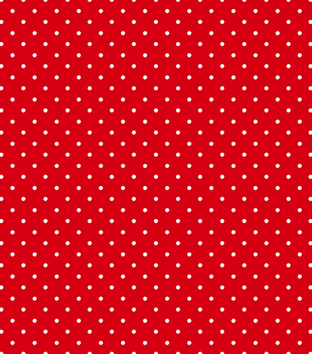 Tutti fruitti collection small polka dot red white for Red and white polka dot pattern