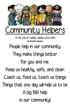 Community Helpers Song or Poem