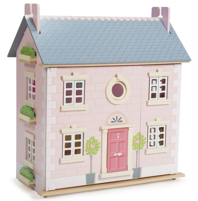 Le Toy Van Holz Puppenhaus Stadtvilla rosa