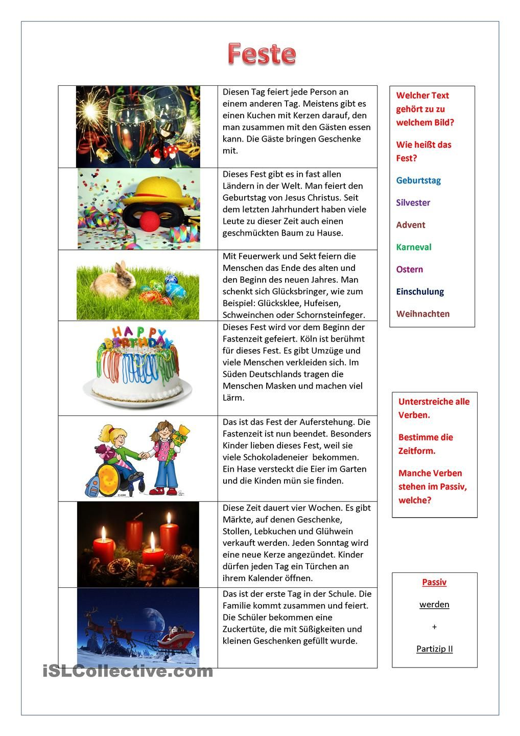 Feste | Pinterest | Worksheets and Language