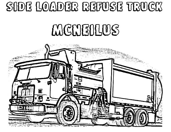 Side Loader Refuse Garbage Truck Coloring Pages Download Print Online Coloring Pages For Free Color Nimbus