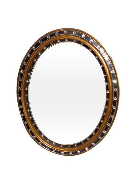 Large Studded Mirror