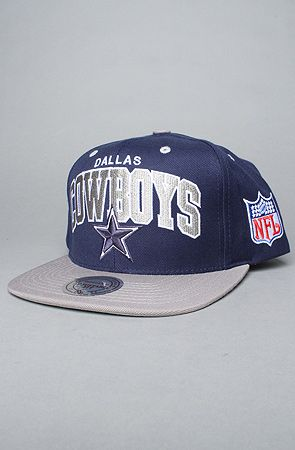 c4db1492c21 The Dallas Cowboys Arch Snapback Cap in Silver   Blue by Mitchell   Ness