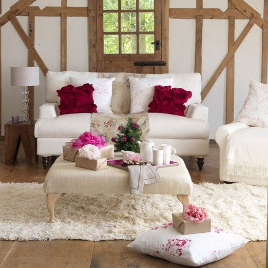 Fl Living Room Cottage Style Decor Barn