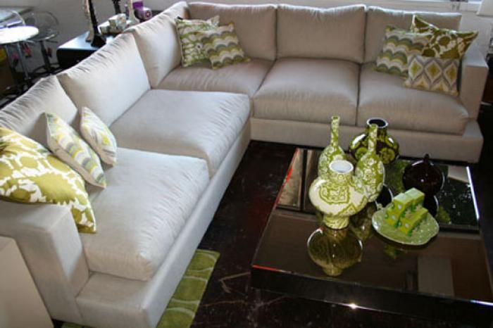 Oliver Sectional With Overstuffed Down Cushions In Natural