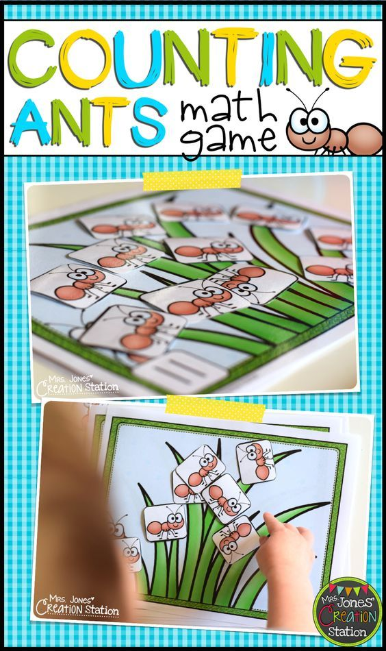 Counting Ants Math Game fun math activity for preschool