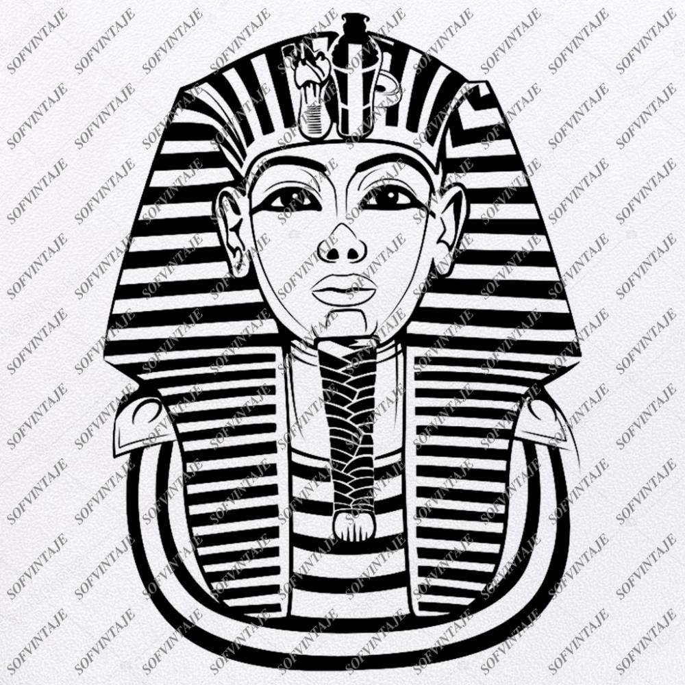 Egyptian Man Face Svg egyptian pharaoh Svg Egyptian Man