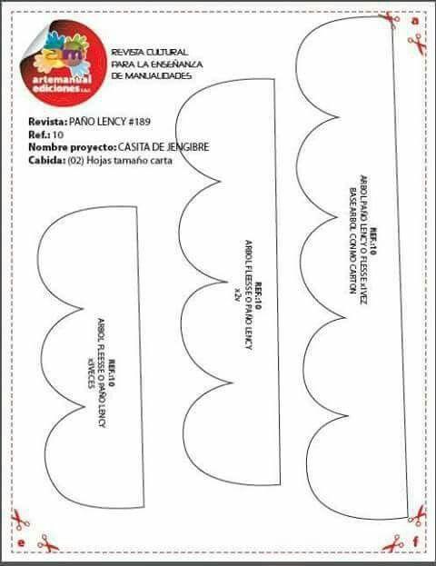 Arte manual casita jengibre 2/3   MOLDES DE LA WEB   Pinterest ...