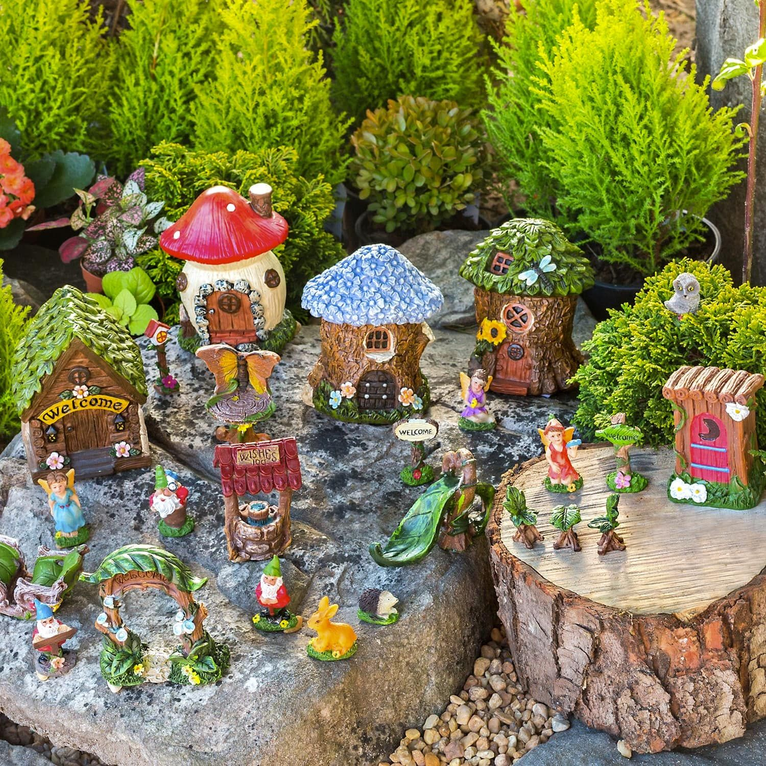 View Mini Fairy Gardens, 10-pc. Sets  Fairy garden box, Mini