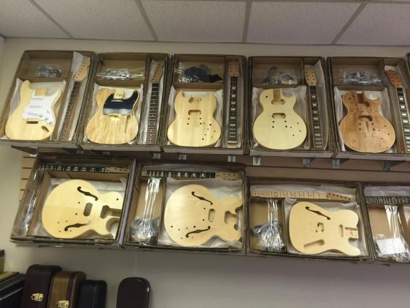 Solo Music Gear Diy Guitar Kits We Have The Largest Selection And Always Adding New Lines We Carry Tele Strat Es Guitar Kits Guitar Diy Bass Guitar Kit
