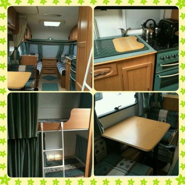 Used 6 berth fixed bunks caravan
