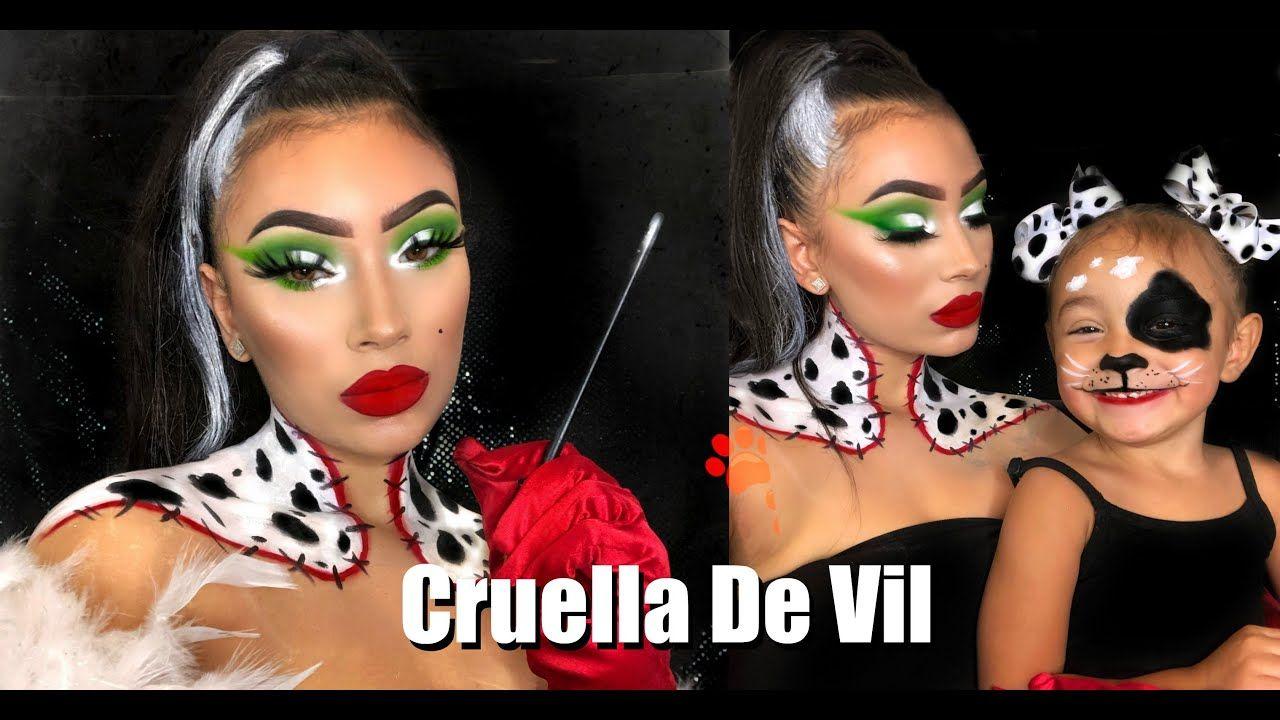 Cruella De Vil & Puppy Halloween Makeup Tutorial