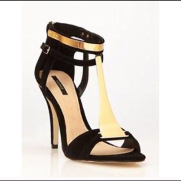 Zapatos Negros de Tacón y Tira en Talón - Foreva fAWwGfU
